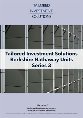 Tailored Investment Solutions Berkshire Hathaway Series 3 PDS