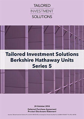 Tailored Investment Solutions Berkshire Hathaway Series 5 PDS