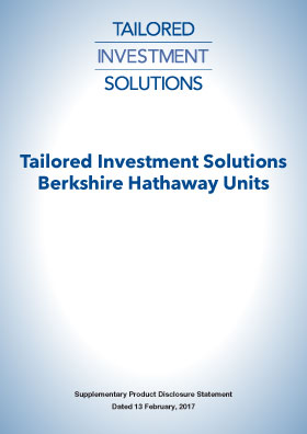 Tailored Investment Solutions Berkshire Hathaway PDS
